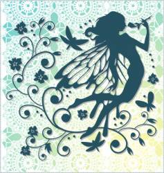 lace fairy background vector image
