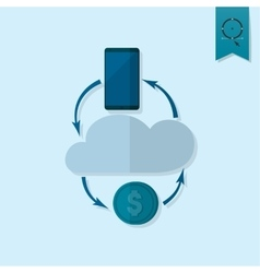 Making money and profit from cloud databases vector