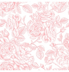 Seamless vintage pattern with roses vector
