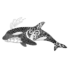 Killer whale with high details vector