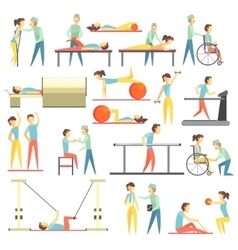 Physical therapy infographic vector