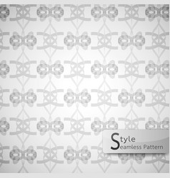 Abstract seamless pattern bow ribbon white vector