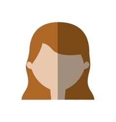 Avatar woman face employee work shadow vector