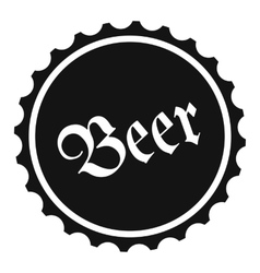 Beer simple icon vector image vector image