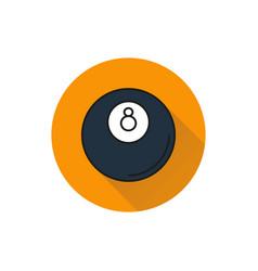 Billiard icon on white background vector