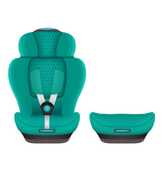booster child car seat 3 isolated on a white vector image vector image