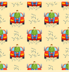 Car crash collision traffic insurance seamless vector