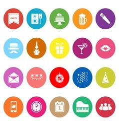 Celebration flat icons on white background vector image vector image