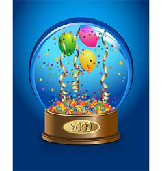 celebration water-globe vector image vector image