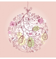 Christmas ball ornaments vector image vector image