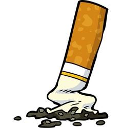 cigarette butt vector image