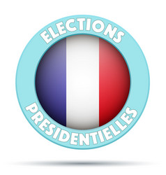 Circle symbol of election 2017 in france vector