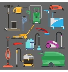 Cleaning equipment set vector image