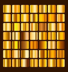Collection metallic and golden gradient vector