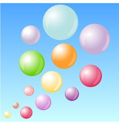 Color bubbles in the sky vector image vector image