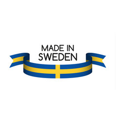 Colored ribbon with the swedish colors vector