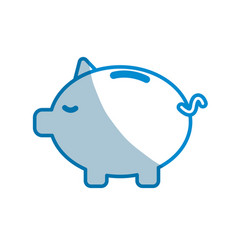 contour save money inside pig in the home vector image