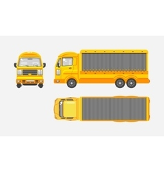 Delivery truck top front side view vector image