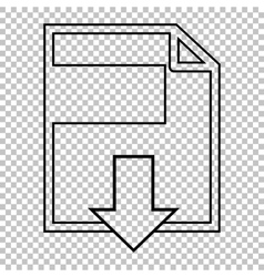 File download line icon vector