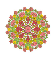 floral lace motifs mandala zentangl relaxation vector image