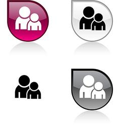 Forum button vector image