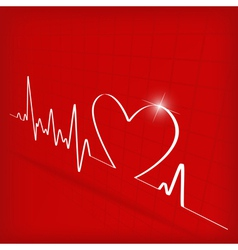 heart cardiogram background - vector image