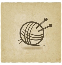 knitting symbol old background vector image