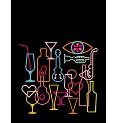 nightclub neon sign vector image