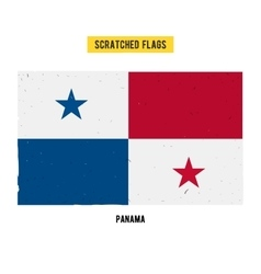 Panamanian grunge flag vector
