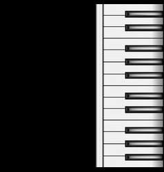Piano keyboard on a dark background vector