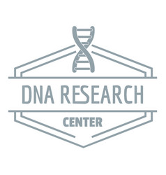 research dna logo simple gray style vector image