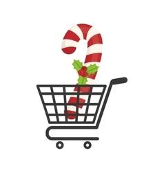 Shopping cart of merry christmas design vector