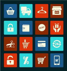Shopping icons set - vector