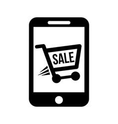 Shopping online vector