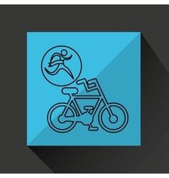Winner silhouette sport cyclist icon vector