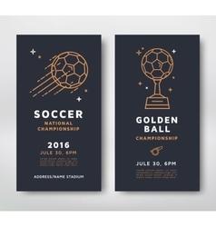 Soccer championship card vector image