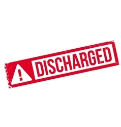 Discharged rubber stamp vector