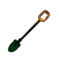 Shovel gardening tool vector
