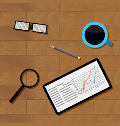 workplace businesman top view vector image