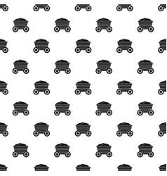 vintage wooden cart pattern vector image