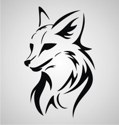 Fox tattoo design vector