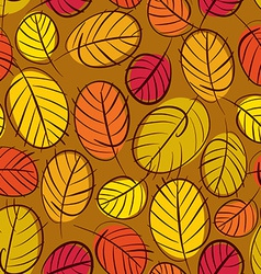 Autumn leaves seamless background floral seamless vector image