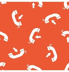 Orange incoming call pattern vector