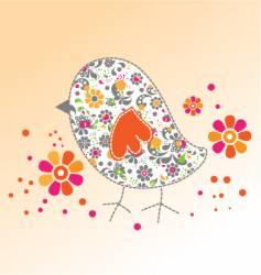 cute birdie vector image