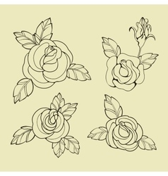 Old school tattoo symbols vector