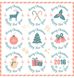 set christmas banners vector image