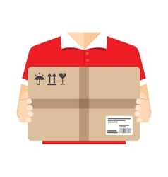 Delivery courier background vector