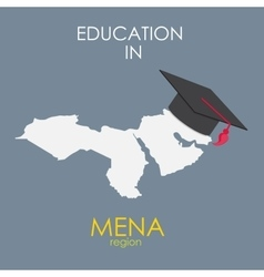 Business School Education in Mena Region Concept vector image