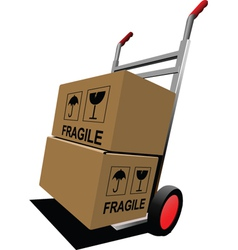 Fragile boxes vector