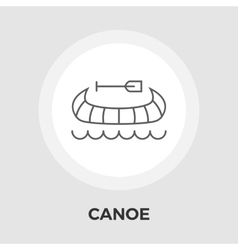 Canoe flat icon vector